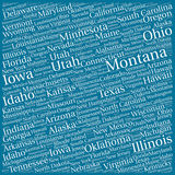 US states pattern Royalty Free Stock Images
