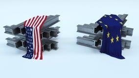 US Steel Import Tarrifs. 3D Render of US Steel Import Tarrifs Royalty Free Stock Images