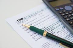 US-Steuerformular 1040 Lizenzfreie Stockbilder