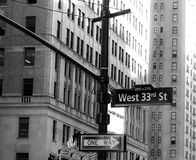 US street sign from New York stock photos
