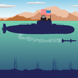 US submarine vector illustration