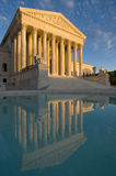 US Supreme Court. The front of the US Supreme Court in Washington, DC, at dusk Royalty Free Stock Photos
