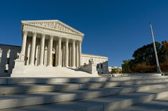 US Supreme Court. The front of the US Supreme Court in Washington, DC Royalty Free Stock Photography