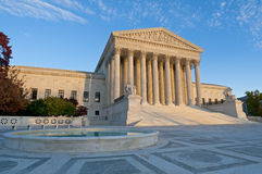 US Supreme Court. The front of the US Supreme Court in Washington, DC, at dusk Royalty Free Stock Photography