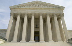 US Supreme Court. Frontal view of the US Supreme court in Washington DC, USA in a close up Stock Photo