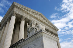 US Supreme Court building. The United States Supreme Court from a low angle Stock Photography