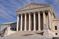 US Supreme Court Building in Washington DC Stock Photo
