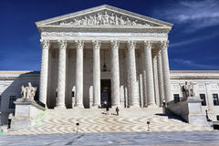 US Supreme Court Capitol Hill Daytime Washington DC Royalty Free Stock Photography