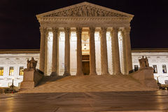 US Supreme Court Capitol Hill Night Stars Washington DC Stock Image