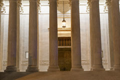 US Supreme Court Columns DoorWashington DC Stock Image