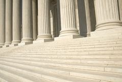 US Supreme Court - Steps. The steps and columns at the entrance to the US Supreme Court in Washington, DC Royalty Free Stock Images