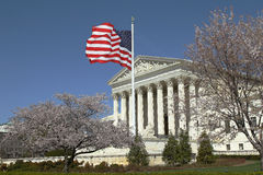 US Supreme Court. Under the blue sky Royalty Free Stock Photo