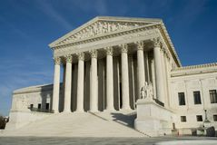 US Supreme Court in Washington DC. In bright sunlight Royalty Free Stock Photography