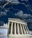 US Supriem Court in a Storm. Stock Images