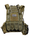US tactical vest. US tactical vest with flag. Isolated on a white background Stock Image