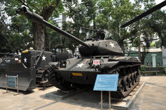 US tank exposed in the War Remnants Museum in Saigon, Vietnam Royalty Free Stock Images