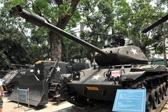US tank exposed in the War Remnants Museum in Saigon, Vietnam Royalty Free Stock Photography