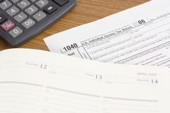 US Tax form Royalty Free Stock Photo