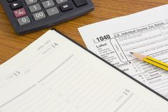 US Tax form Royalty Free Stock Image