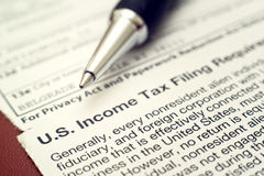 US tax form 1042 Stock Images
