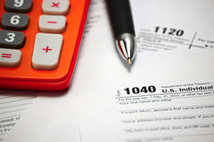 US tax form. On table  / taxation concept Stock Photography
