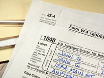 US Tax Forms Royalty Free Stock Images
