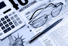 US Tax Forms Stock Photography