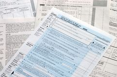 US Tax Forms Stock Image