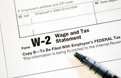 US Tax Forms. United States tax forms for the IRS royalty free stock image