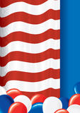 US Template. US Flag theme - festive background Stock Photography