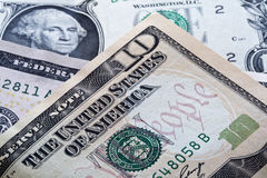 US ten dollar bill Stock Photos