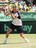 US Tennis player Jack Sock playing the Davis Cup royalty free stock photos