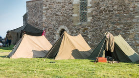 US tent soldiers settled in the city Stock Photography