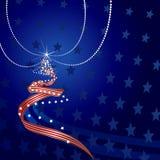 US Themed Christmas Tree Royalty Free Stock Photos