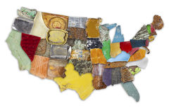 US trash map Stock Images