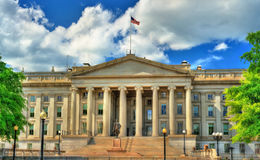 US Treasury Department building in Washington, DC. United States Treasury Department building in Washington, DC Royalty Free Stock Image