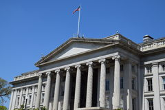 The US Treasury Department Building in Washington, DC Stock Photography