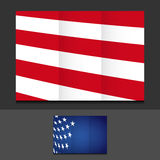 US trifold template illustration design Stock Image