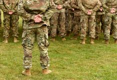 US troops. US soldiers. US army.  stock images