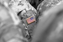 US troops. US soldiers. US army.  royalty free stock photo