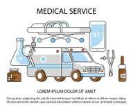 Usługa zdrowotnej strona internetowa Obraz Royalty Free