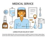 Usługa zdrowotnej strona internetowa Zdjęcie Royalty Free