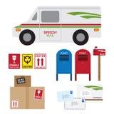 usługi pocztowe royalty ilustracja