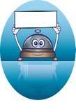 Usługowa dzwonkowa maskotka ilustracja wektor