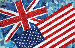 US and UK National Flags Royalty Free Stock Photo