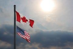 US-und Kanada-laufende Geschäfte Stockfoto