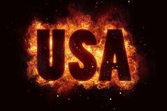 Us usa war crisis flame flames burn burning hot explosion Royalty Free Stock Photos