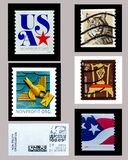 US used postage stamps collections stock photography