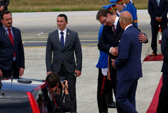 US Vice President Joseph 'Joe' Biden arrives in Belgrade. Belgrade, Serbia. 16th August, 2016. US Vice President Joseph 'Joe' Biden arrives in Belgrade, Serbia stock images