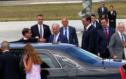 US Vice President Joseph 'Joe' Biden arrives in Belgrade. Belgrade, Serbia. 16th August, 2016. US Vice President Joseph 'Joe' Biden arrives in Belgrade, Serbia royalty free stock images